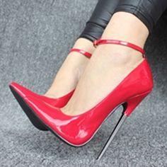 Pointed-toe Metal Buckles Stiletto Heels US 11 | EU 42 | UK 8 | CN 44 Stiletto Heels Women large size shoes