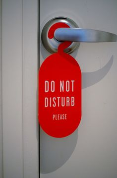 """Once Aidan and I have returned to the hotel and our room, Aidan puts the """"Do Not Disturb"""" sign on the door. Goodnight Ladies, see you all tomorrow."""