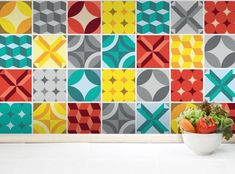 Geometric Tile Stickers (20 Tiles Stickers) Tile Decals – Kitchen Backsplash Tiles – Bathroom Tile Decals  Apply this beautiful wall tile sticker in any flat surface (tiles, walls, windows, doors,…
