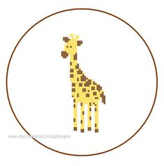 CROSS STITCH PATTERN  (Patterns are in both Single page and multi-page enlarged format for easy reading)    The Giraffe pattern belongs to my