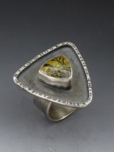 Ring |  Michele Grady.  Sterling Silver and plume agate