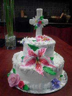 Dedication cake created by care