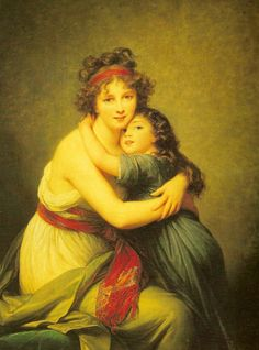Madame Vigée-Le Brun  Louvre, mother and daughter.