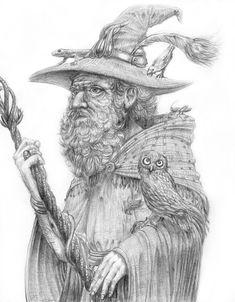 Radagast the brown Wizard by sboterod.deviantart.com on @DeviantArt