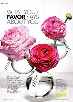 """@BRIDES: WHAT YOUR FAVOR SAYS ABOUT YOU. This wedding favor, a single flower in our Hanging Ball Vase, says: """"We'll be honeymooning in Paris."""" Hanging Ball Vases, JamaliGarden.com"""