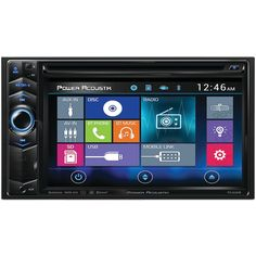 """6.2"""" Double-DIN In-Dash LCD Touchscreen DVD Receiver with Bluetooth(R) & MHL(R) MobileLink X1 - POWER ACOUSTIK - PD 624HB"""