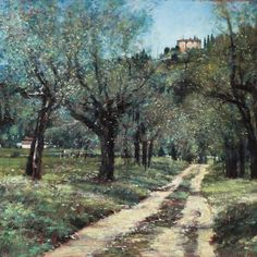 Near San Antimo Landscape Art, Country Roads, Gallery, Painting, Roof Rack, Painting Art, Paintings, Painted Canvas