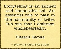 Quotable - Russell Banks - Writers Write Creative Blog