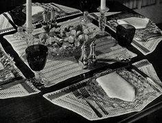 Dessert Bridge Set crochet pattern originally published in Modern Table Settings, Spool Cotton Book 40. #crochetpatterns