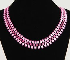 Free pattern for necklace with tila beads Wild Thyme