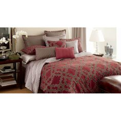 @Overstock.com - Candice Olson Maze 4-Piece Luxury Comforter Set - Candice Olson bedding offers the luxurious touches of a high-end designer. The Maze collection features warm reds with dove grey accents for a bold style in any space.  http://www.overstock.com/Bedding-Bath/Candice-Olson-Maze-4-Piece-Luxury-Comforter-Set/8261656/product.html?CID=214117 $130.49