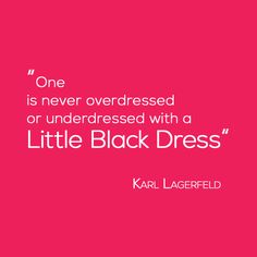 Karl Lagerfeld, Little Black Dress