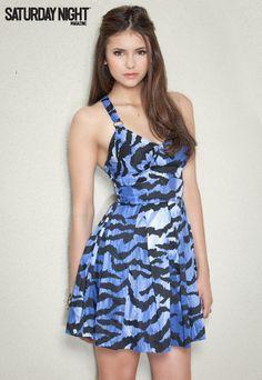 Nina Dobrev in Alice by Temperley dress