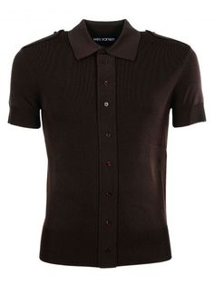 NEIL BARRETT Neil Barrett Buttoned Shoulder Polo Shirt. #neilbarrett #cloth #https: