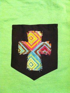 Cross Pocket TShirt by SewCrazyEG on Etsy, $20.00