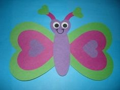 Valentine Day Craft from Shapes