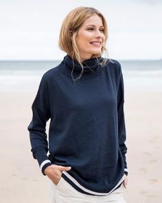 Our beautiful ladies knitwear is made from the finest natural yarns and includes pure wool and cashmere jumpers, jumper dresses and cardigans. Roll Neck Jumpers, Cashmere Jumper, Dress With Cardigan, Summer Outfits, Summer Clothes, Workout Pants, Solid Black, Turtle Neck, Sweaters