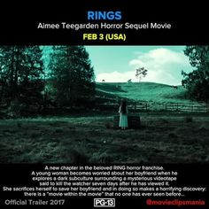 RINGS A young woman finds herself on the receiving end of a terrifying curse that threatens to take her life in 7 days.  Director: F. Javier Gutiérrez Writers: Jacob Estes (screenplay) (as Jacob Aaron Estes), Akiva Goldsman (screenplay)  Stars: Vincent D'Onofrio, Laura Wiggins, Aimee Teegarden Reposted Via @movieclipsmania