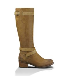 Shop the UGG® Darcie for Women- A classic equisterian boot elevated with polished suede straps.