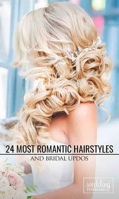 24 Most Romantic Bridal Updos & Wedding Hairstyles ❤ Whether you are looking for a long hairstyle, half up half down or bun style, we are sure to have something for you.  See more: http://www.weddingforward.com/romantic-bridal-updos-wedding-hairstyles/ #wedding #hairstyles