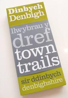 Denbighshire County Council 'Town Trail' leaflet pack White Fox, Fox Design, Trail, Editorial