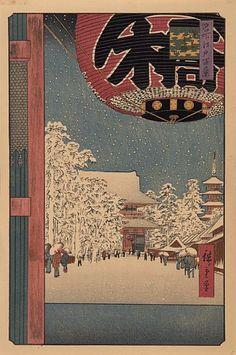 """Hiroshige 1ste (Ando), """"Sensoji Temple"""" / Juleauksjon / Nettauksjon / Blomqvist - Blomqvist Kunsthandel"""