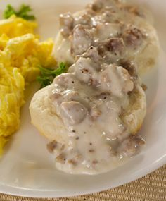 Renal Friendly Country Biscuits and Gravy. For a once in a while treat.