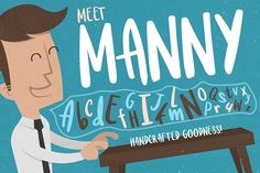 Meet Manny Typeface by Layerform Design Co. on @creativemarket