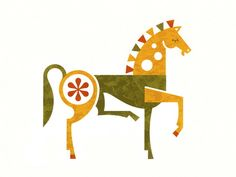 Horse print by Ty Wilkins, via Poster Cabaret