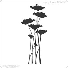 donna downey signature stencils - poppy forest | Donna Downey Studios Inc