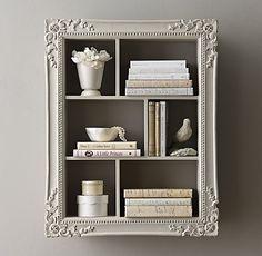 Vintage Hand-Carved Display Shelf