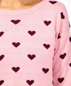Ditsy Heart Print Sweater