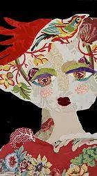 Découvrez les portraits textiles de Katherine Roumanoff . Retrospectives sur les 20 dernières années. Portraits réalisés en tissus et peinture.