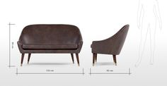 A Seattle, Brown Oxfords, 2 Seater Sofa, Home Furniture, Furniture Ideas, Sofas, Brown Leather, Accent Chairs, Armchair