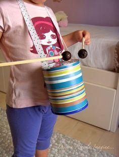 musical instruments Musical Instrument Crafts for Kids - Kids Art & Craft Recycled Crafts Kids, Crafts For Kids, Arts And Crafts, Drums For Kids, Music For Kids, Recycling For Kids, Diy For Kids, Homemade Drum, Instrument Craft