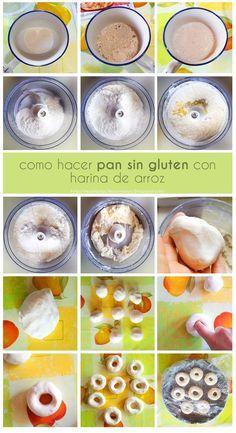 receta pan con harina de arroz sin gluten fototutorial