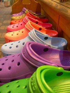979ad8f0c9222 Colorful Crocs. I know they are notorious