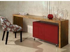 Aparador e bar Liberty. serve como escrivaninha, balcão para refeições, divisor de ambiente e também como aparador/bar.