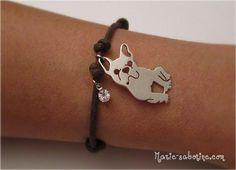 French Bulldog Fan Bracelet by MyBulldogJewel on Etsy