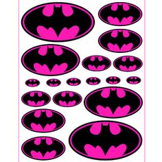 INSTANT DOWNLOAD Batman Batgirl Pink  5 sizes   for by Inulja