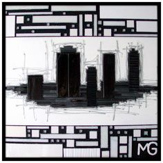 GLAM CITY * SOLD * [42x42] Company Logo, City, City Drawing, Cities