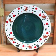 Ginger Spice Platter:  Green  ~ Ginger Spice Collection