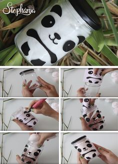 23 Clever DIY Christmas Decoration Ideas By Crafty Panda Panda Themed Party, Panda Birthday Party, Panda Party, Bear Party, Diy Panda, Panda Craft, Jar Crafts, Diy And Crafts, Crafts For Kids