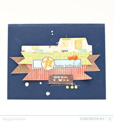 Happy Birthday Card by maggie holmes - Studio Calico April Kits