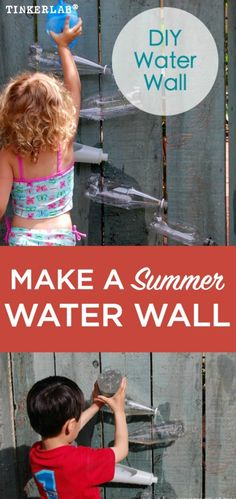 How to make an easy summer water wall  Maybe with bird bath at bottom...to save water for good cause...