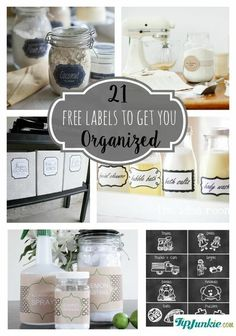 How to make printable tags with free printable labels to organize your home beautifully. These free printable label templates include blank labels… Kitchen Labels, Pantry Labels, Closet Labels, Canning Labels, Canning Recipes, Free Label Templates, Labels Free, Blank Labels, Printable Lables