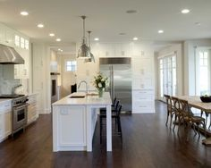 Jolie's idea...close off living room, open kitchen  One Room Kitchen Design, Pictures, Remodel, Decor and Ideas - page 2