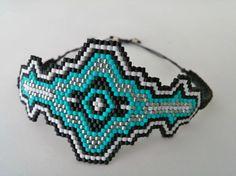 loom Beaded bracelet brick stitch miyuki by AuroraBorealisByMari