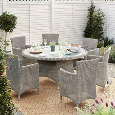 buy john lewis dante dining table 6 dining armchairs grey online at johnlewis - Garden Sheds John Lewis