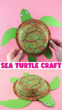 Sea Animal Crafts, Animal Crafts For Kids, Fathers Day Crafts, Easy Crafts For Kids, Craft Activities For Kids, Summer Crafts, Toddler Crafts, Sea Turtle Crafts, Fun Projects For Kids